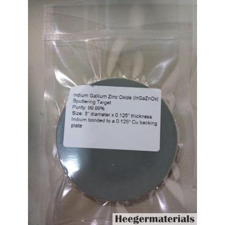 Indium Gallium Zinc Oxide (InGaZnOx) Sputtering Target